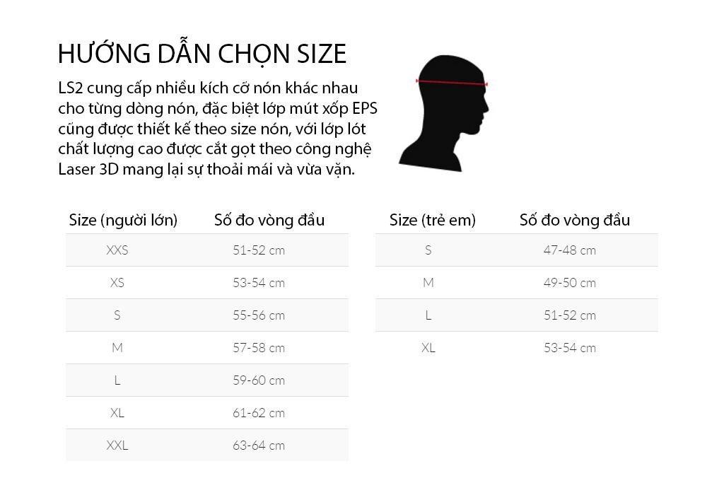 Hướng dẫn chọn size nón bảo hiểm- hifa.vn